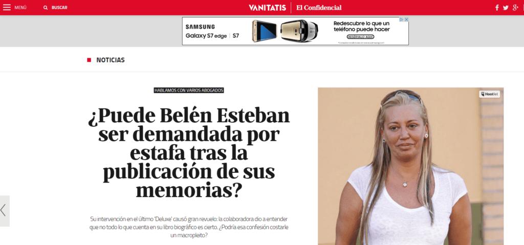 Biografía de Belén Esteban. Revista Vanitatis