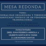 Mesa redonda: Criminalidad organizada y terrorismo